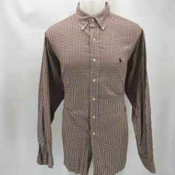 Polo Ralph Lauren Brown Button Down Large