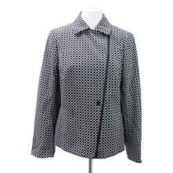 Akris Punto Black White Cotton Jacket Sz 14