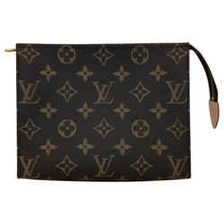 """Louis Vuitton Monogram Toiletry 19 Cosmetic Bag 7.5""""l X 2""""w X 5.9""""h"""