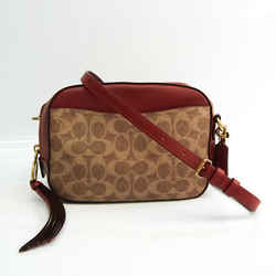 Coach Signature Camera Bag 31208 Women's Coated Canvas,Leather Shoulder BF528086