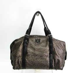 Loewe Women's Leather,Leather Boston Bag,Handbag Black,Gold BF515298