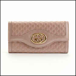 Rdc10838 Authentic Gucci Pink Micro Guccissima Leather Sukey Flap Wallet