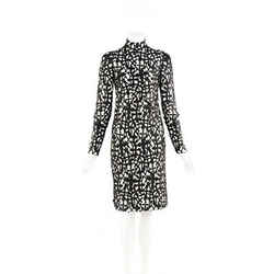 Versace Black Cross Macrame Open Back Dress SZ 38