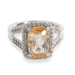 John Hardy Magic Cut Topaz Diamond Halo Ring in  Sterling Silver 0.22 CTW