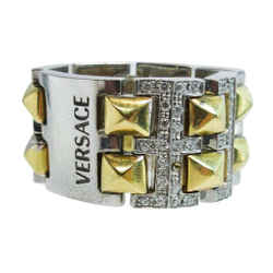 VERSACE 18 Karat White and Yellow Gold with Diamond Accents