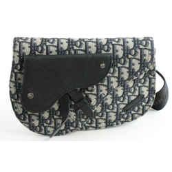 Dior Saddle Pouch - Beige and Black Dior Oblique Jacquard