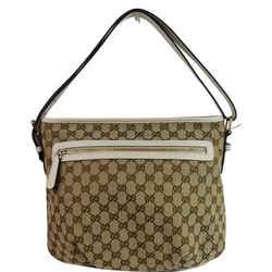 GUCCI GG Plus Supreme Canvas Messenger Shoulder Bag Beige 388930