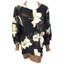 Vivienne Westwood  Anglomania  Black/multicolor Floral Print Tunic Blouse  Size: 42/8