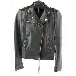 Gucci Plonge Leather Biker Jacket
