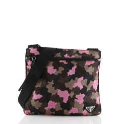 Zip Crossbody Bag Camouflage Canvas Medium