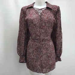 Rebecca Minkoff Purple Long Sleeve Dress Medium