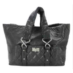 Chanel      Black Jumbo Quilted Chain Reissue Tote Cocoon 213364