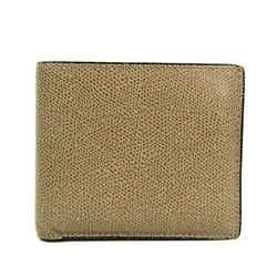 Valextra V8L23 Unisex Leather Wallet (bi-fold) Beige BF522153