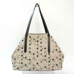 Jimmy Choo PIMLICO Unisex Leather Tote Bag Black,Gray BF535467