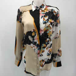 Phillip Lim Target Ivory Long Sleeve Button Up Floral Shirt Size Xs