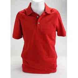 Louis Vuitton Red Cotton Pique Short Sleeve Polo T-Shirt