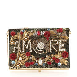 Amore Box Clutch Embellished Metal