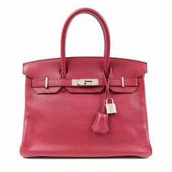 Hermes Ruby Red Togo 30 Cm Birkin Bag