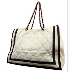 Chanel GST Two-Tone Quilted Chain Grand Shopping Tote 215949