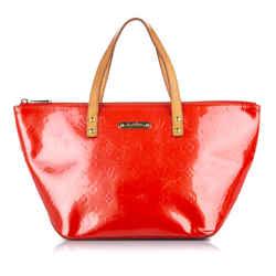 Red Louis Vuitton Vernis Bellevue PM Bag