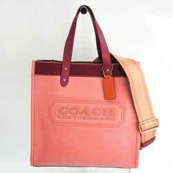 Coach C1093 Women's Leather,Leather Shoulder Bag,Tote Bag Bordeaux,Pink BF531209