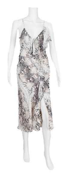 Haute Hippie Python Print Silk Dress