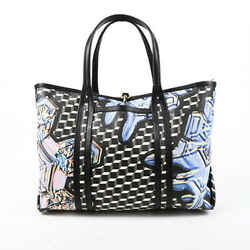 Pierre Hardy Crystal Cube Black White Leather Tote Bag