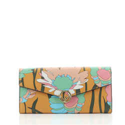 Kan I F Continental Wallet on Chain Printed Leather