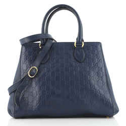 Soft Signature Convertible Top Handle Bag Guccissima Leather Large