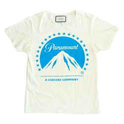 Gucci - T-shirt - Paramount Studios White Blue Shirt Oversized - XXXS to Small