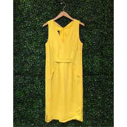 VALENTINO YELLOW SHEATH DRESS | 12