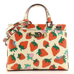 Zumi Top Handle Bag Printed Leather Medium