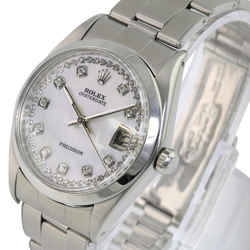 White Mop Oysterdate Precision 6694 Diamond Dial 34mm Watch