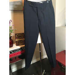 Marni Size 40 Navy Blue Wool Career Pants 2292-54-81520