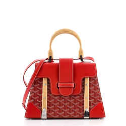 Saigon Top Handle Bag Coated Canvas with Leather PM