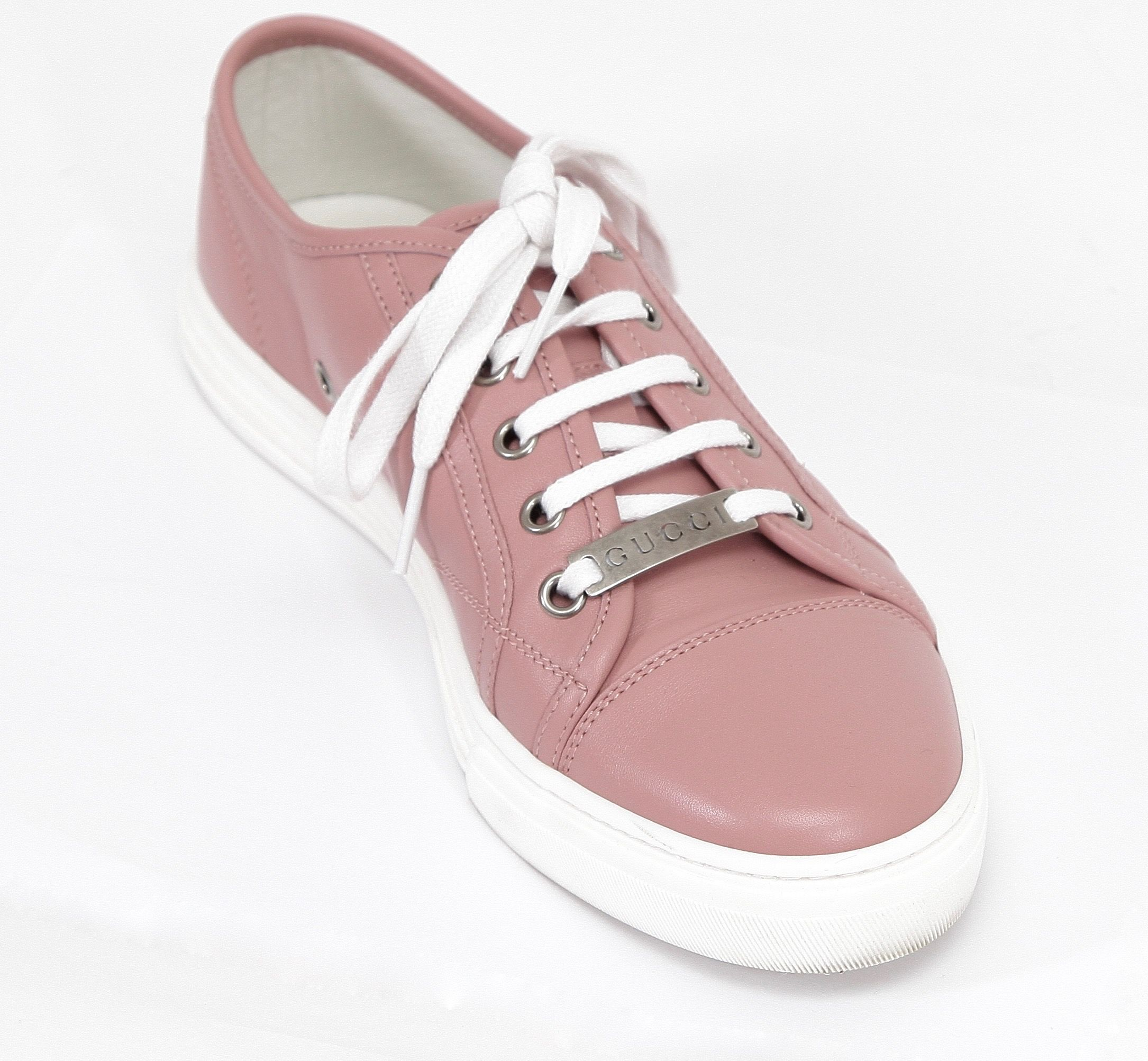 GUCCI Sneaker Low-Top Leather SOFT PINK