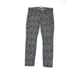 7 FOR ALL MANKIND Black & White Abstract-Print Cotton-Lycra Skinny Jeans