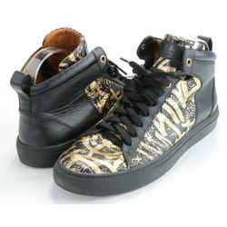 Bally Hedo Graffiti Leather High-Top Sneakers