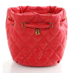 Balenciaga Quilted Leather B Bucket Bag