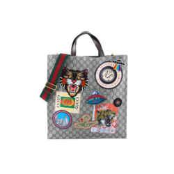 Gucci Shoulder Applique Multicolor Gg Supreme Canvas Cross Body Bag