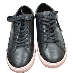 YVES SAINT LAURENT  Court Classic Perforated Leather Sneakers Black Size 39