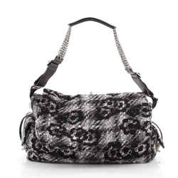 Camera Bag Camellia Tweed and Leather Small