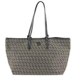 Fendi Dark Brown x Khaki Monogram FF Zucca Roll Shopper Tote Bag 911ff414