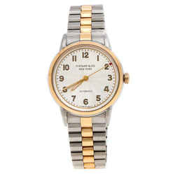Tiffany & Co. White Stainless Steel CT60(R) 3-Hand Automatic Women's Wristwatch...