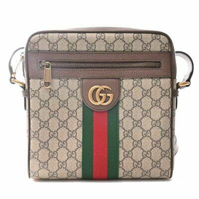 Auth Gucci Offidia Women's Gg Supreme,canvas Shoulder Bag Beige