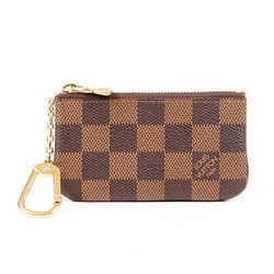 Louis Vuitton Pochette Cles Damier Ebene Coated Canvas