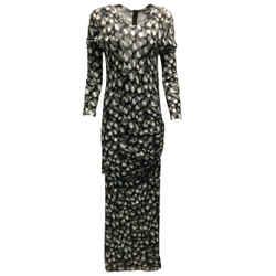 Just Cavalli Graphic Print Long Sleeved Viscose Maxi Dress