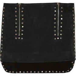 Isabel Marant Iolana Studded Suede Mini In Dark Green and Black Size: 4 (S, 27)