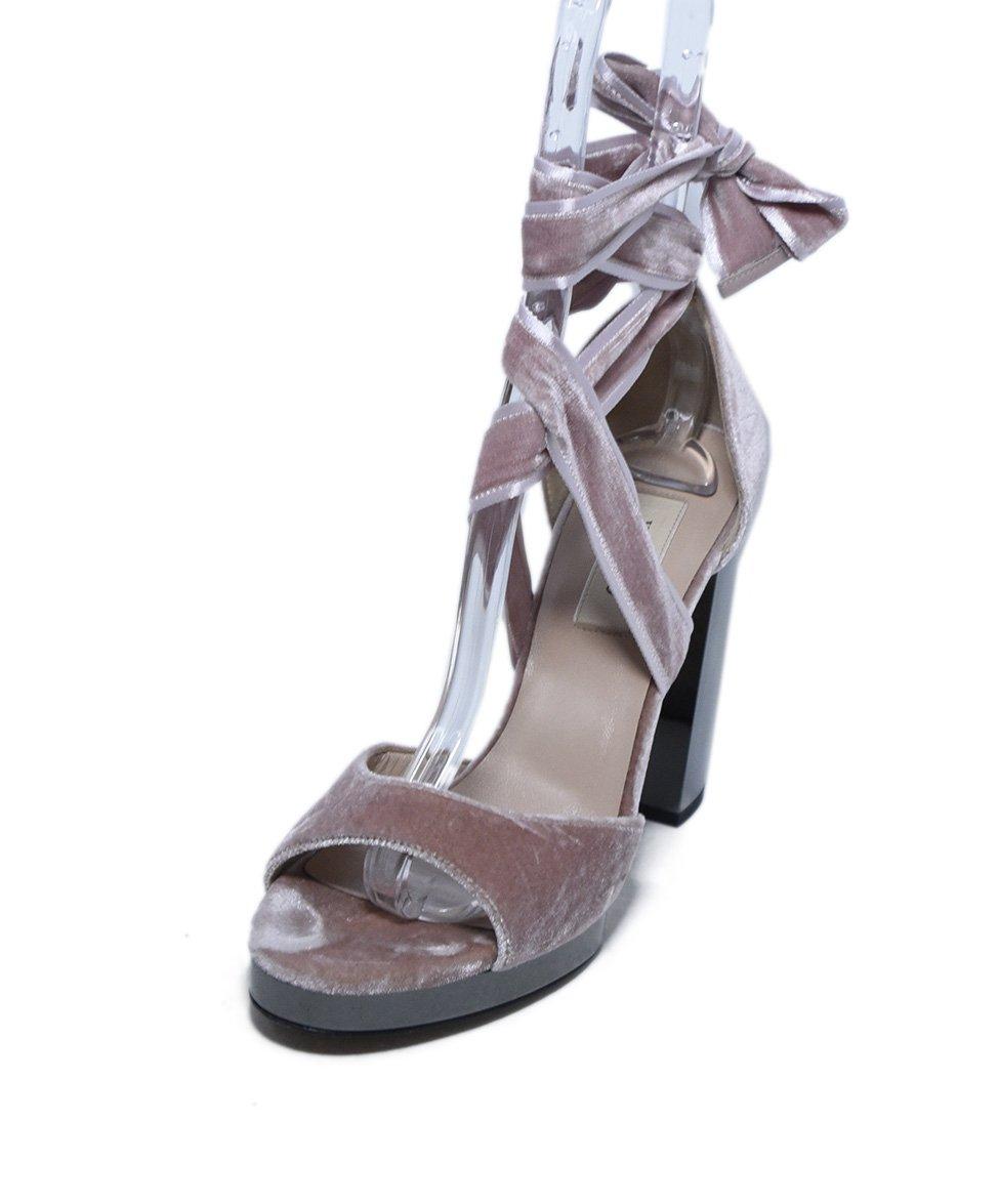 CLEARANCE 90/'s Blue Velvet Silver Ankle Strap Heel  Strappy Sandal  Size 10