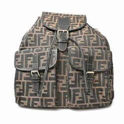 Auth Fendi Fendi Zucca Canvas Rucksack Backpack Brown